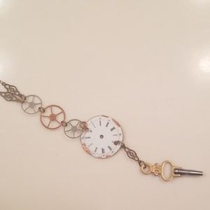 Jewelry - One of a kind clock part necklace